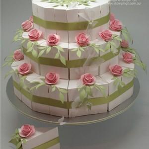 Caixa para bolo de andar
