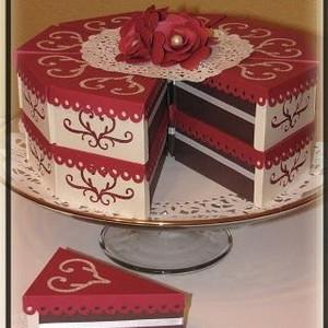 Caixa para bolo em fatias