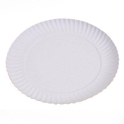 Pratos descartáveis de papelão